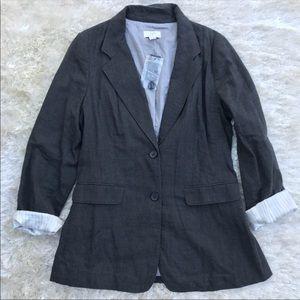 NWT || LOFT Charcoal Long Blazer